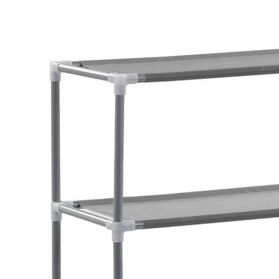 vidaXL 3-szintes ezüstszínű alumínium tárolóállvány 69 x 28 x 169 cm