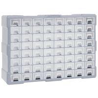 vidaXL többfiókos szervező 64 fiókkal 52 x 16 x 37,5 cm
