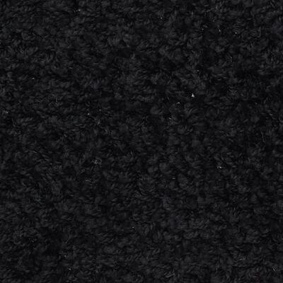 vidaXL 15 darab fekete lépcsőszőnyeg 65 x 25 cm