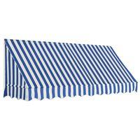 vidaXL kék és fehér bisztró napellenző 250 x 120 cm