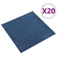 vidaXL 20 db sötétkék szőnyegpadlólap 5 m² 50 x 50 cm