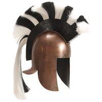 vidaXL rézszínű antik görög harcos acélsisak LARP másolat