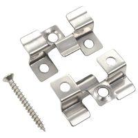 vidaXL 100 db rozsdamentes acél burkolatrögzítő klipsz 200 csavarral