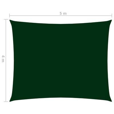 vidaXL sötétzöld téglalap alakú oxford-szövet napvitorla 4 x 5 m