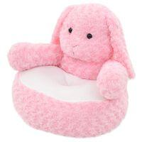 vidaXL rózsaszínű nyúl plüssjáték