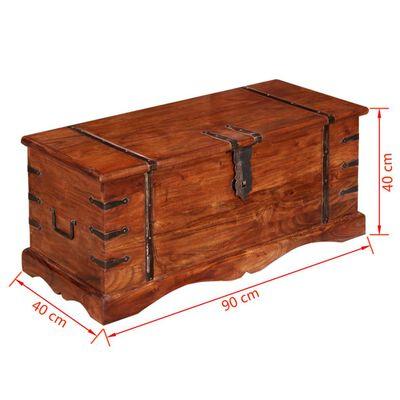 vidaXL tömör fa tárolóláda