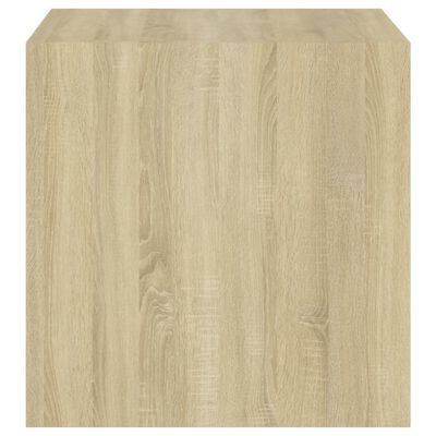 vidaXL fehér és tölgyszínű forgácslap faliszekrény 37 x 37 x 37 cm