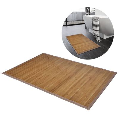 2 db Bambusz fürdőszoba szőnyeg 40 x 50 barna