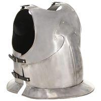 vidaXL ezüstszínű középkori lovagi mellvért LARP másolat