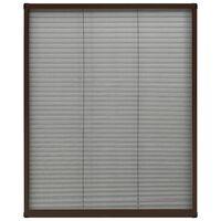 vidaXL barna alumínium pliszé ablakszúnyogháló 80 x 100 cm