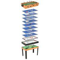 vidaXL juharfaszínű 15 az 1-ben játékasztal 121 x 61 x 82 cm
