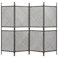 vidaXL barna 4 paneles paraván 240 x 200 cm