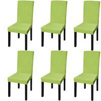 vidaXL 6 db zöld szabott nyújtható székszoknya