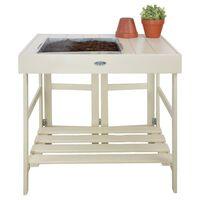 Esschert Design fehér ültetőasztal