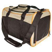 Kurgo Wander Carrier fekete, narancs és homokszínű kutyaszállító táska