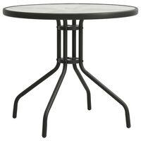 vidaXL antracitszürke acél bisztróasztal Ø70 cm