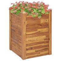 vidaXL tömör akácfa kerti magaságyás 60 x 60 x 84 cm