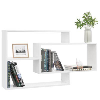 vidaXL magasfényű fehér forgácslap fali polcok 104 x 20 x 58,5 cm