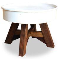 vidaXL fehér újrahasznosított fa dohányzóasztal 60 x 45 cm
