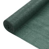 vidaXL zöld HDPE belátásgátló háló 1 x 50 m 75 g/m²