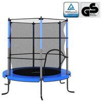 vidaXL kék kerek trambulin biztonsági hálóval 140 x 160 cm
