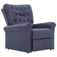 vidaXL szürke művelúr dönthető szék