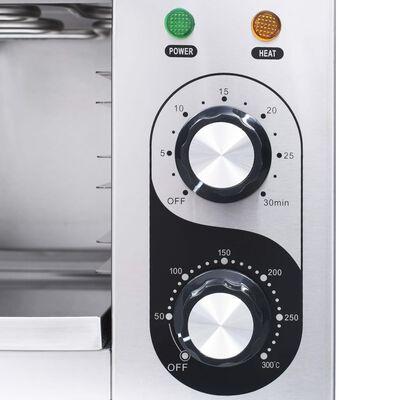 vidaXL rozsdamentes acél elektromos gasztronorm grillsütő 3000 W