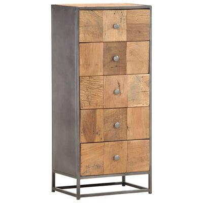 vidaXL tömör újrahasznosított fa fiókos szekrény 45 x 30 x 100 cm