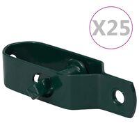 vidaXL 25 darab zöld acél huzalfeszítő kerítéshez 90 mm