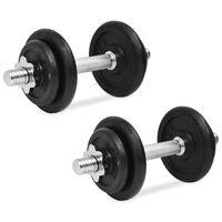 vidaXL 14 részes öntöttvas súlyzókészlet 20 kg