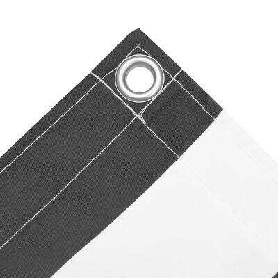 vidaXL antracitszürke-fehér oxford-szövet erkélyparaván 90 x 600 cm