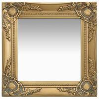 vidaXL aranyszínű barokk stílusú fali tükör 40 x 40 cm