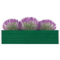 vidaXL zöld horganyzott acél kerti magaságyás 320 x 40 x 77 cm