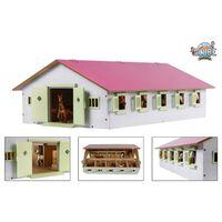 Kids Globe rózsaszínű istálló 9 állással 1:32 méretarányú 610188