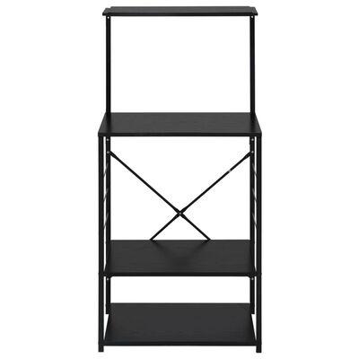 vidaXL fekete forgácslap mikrosütő szekrény 60 x 39,6 x 123 cm