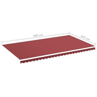 vidaXL burgundi vörös csere napellenző ponyva 6 x 3,5 m