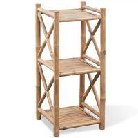 3 szintes szögletes bambusz polc