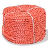 vidaXL narancssárga polipropilén sodrott kötél 12 mm 250 m