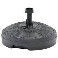 vidaXL homokkal vagy vízzel tölthető antracit műanyag napernyőtalp 20L