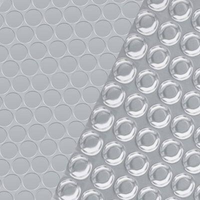 vidaXL ezüstszínű négyszögletes PE medencetakaró 600 x 400 cm