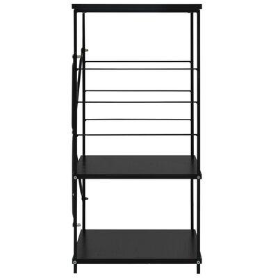vidaXL fekete forgácslap mikrosütő szekrény 60 x 39,6 x 79,5 cm