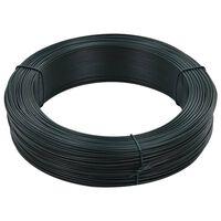 vidaXL zöldesfekete acél kerítésösszekötő drót 250 m 1,4/2 mm