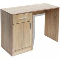 vidaXL 100x40x73 cm Tölgyfiókos íróasztal