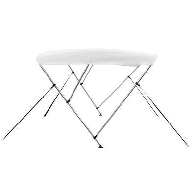 vidaXL fehér háromágú bimini tető 183 x 140 x 137 cm