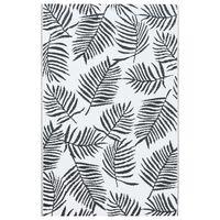 vidaXL fekete-fehér PP kültéri szőnyeg 80 x 150 cm