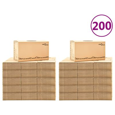 vidaXL 200 db karton költöztetődoboz XXL 60 x 33 x 34 cm