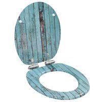 vidaXL öreg famintás MDF WC-ülőke lassan csukódó fedéllel