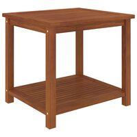 vidaXL tömör akácfa kisasztal 45 x 45 x 45 cm