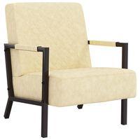 vidaXL krémszínű műbőr fotel