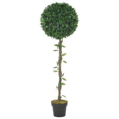 vidaXL zöld, cserepes műbabérfa 130 cm